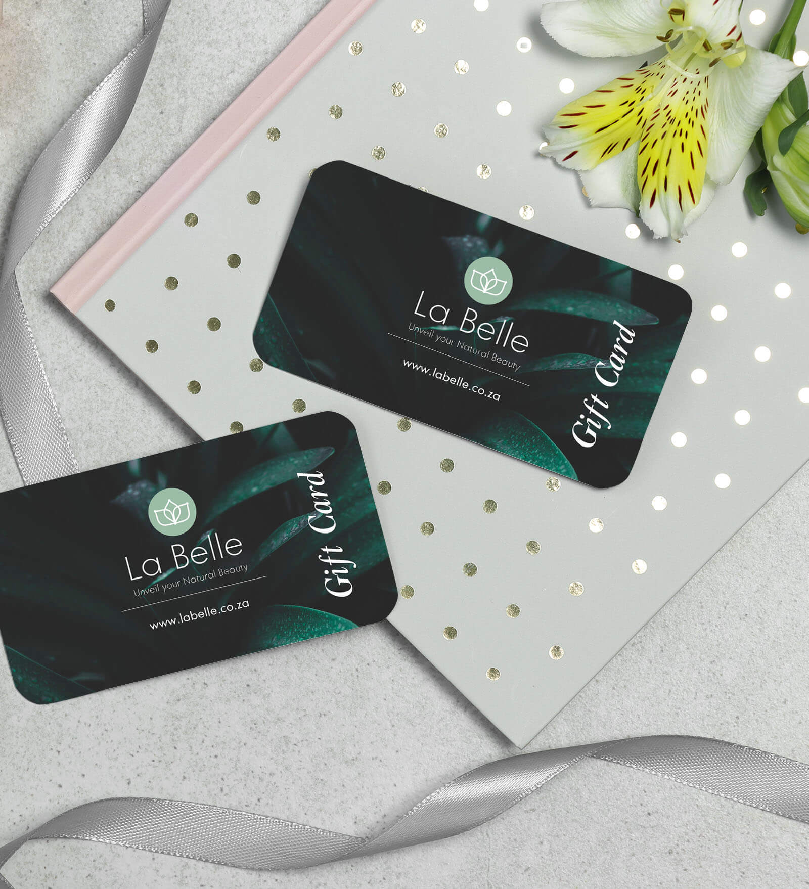 la belle gift card design
