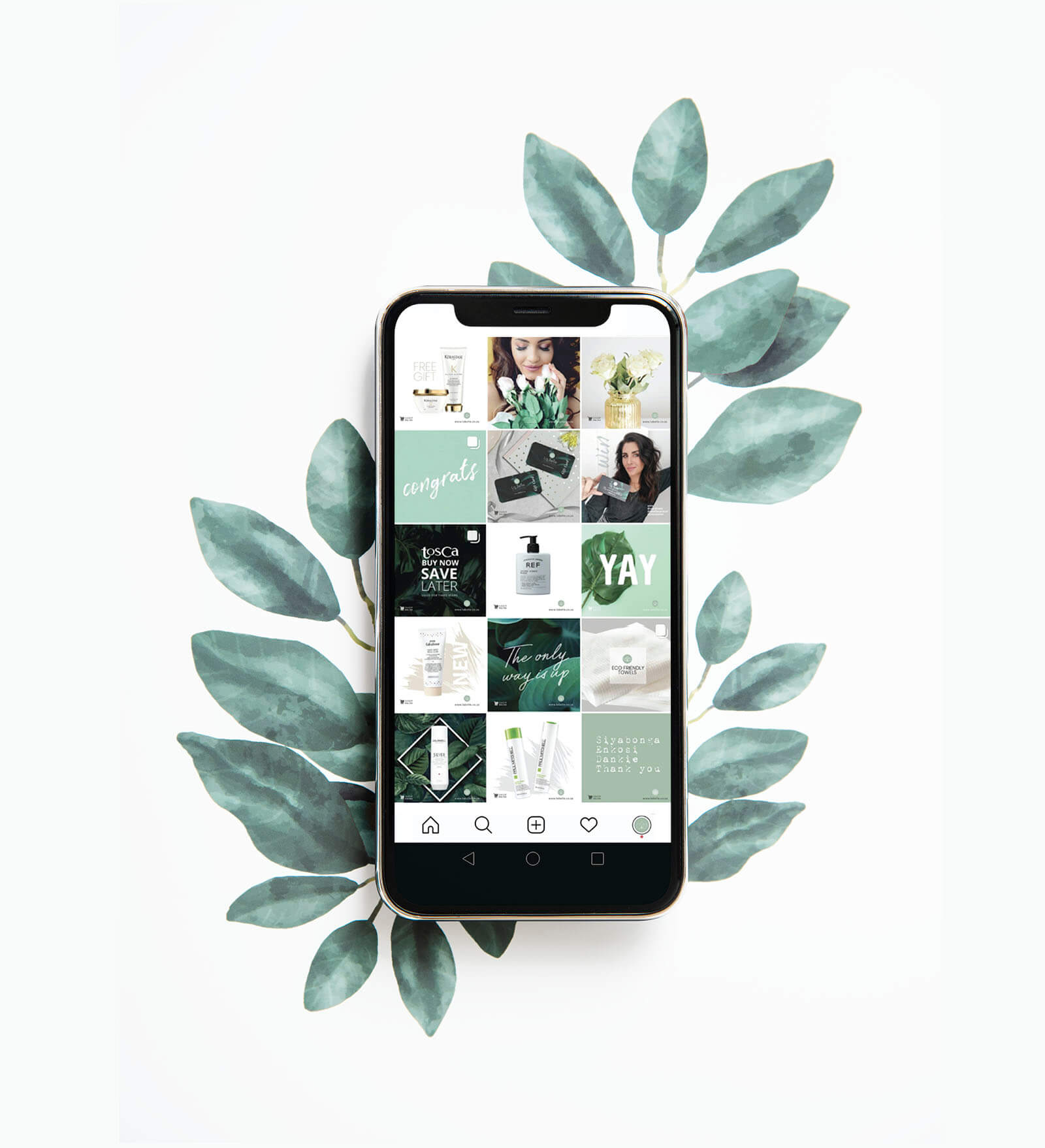 la belle instagram design